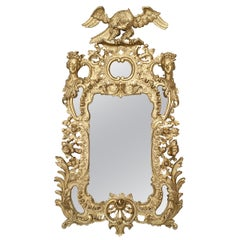 19th Century English Georgian Style Carved Giltwood Wall Mirror