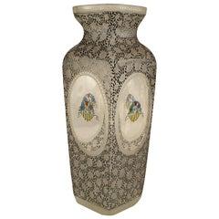 Bohemia Secessionist Floral Glass Vase