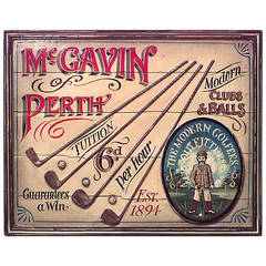 20th Century Scottish Country Painted Sign for McGavin of Perth