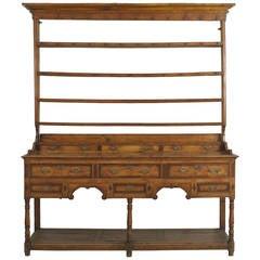 18th Century English Country Open Shelf Oak Sideboard