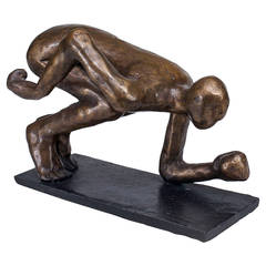 Small Contemporary American Bronze Figure by Carole Bruns, 2003