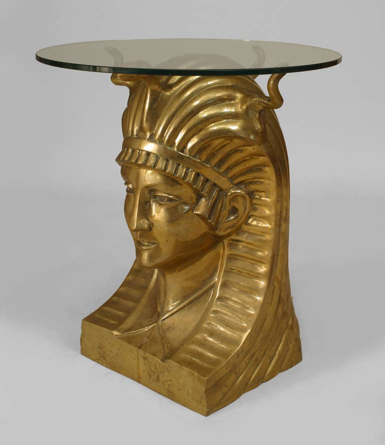 20th C Egyptian Revival Pharaoh Table For Sale At 1stdibs