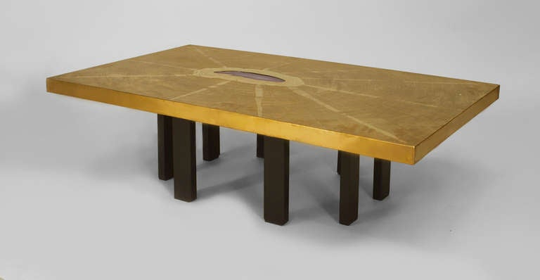Agate and Etched Bronze Table by Georges Mathias 4