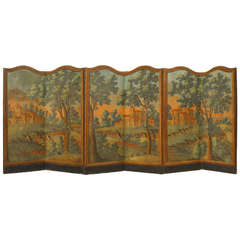 ]French Provincial Painted Folding Screen
