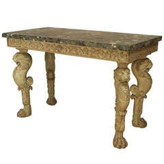 Important English Regency Marble Top Console