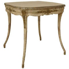 Italian Neoclassic Style Silver Gilt End Table