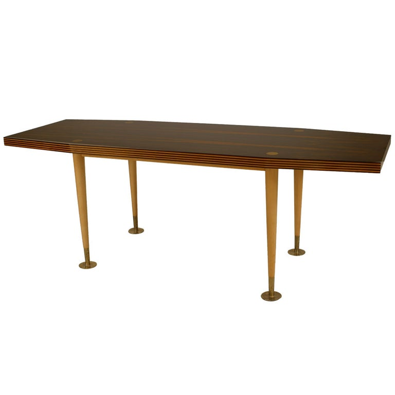 Mid-Century Palisander and Sycamore Coffee Table For Sale