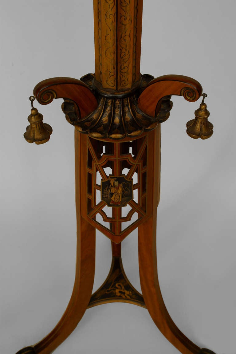 Pair of Regency Style Pedestals Attributed to S. Hille & Co. 4