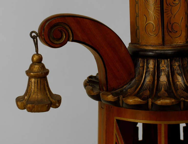 Pair of Regency Style Pedestals Attributed to S. Hille & Co. 9