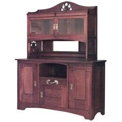 Oak Arts & Crafts Cabinet By Leon Jallot