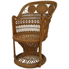 English Regency Style Wicker Armchair