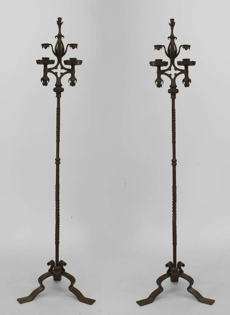 Iron Candle Stand Designs : Pair of french wrought iron candle stands for sale at stdibs