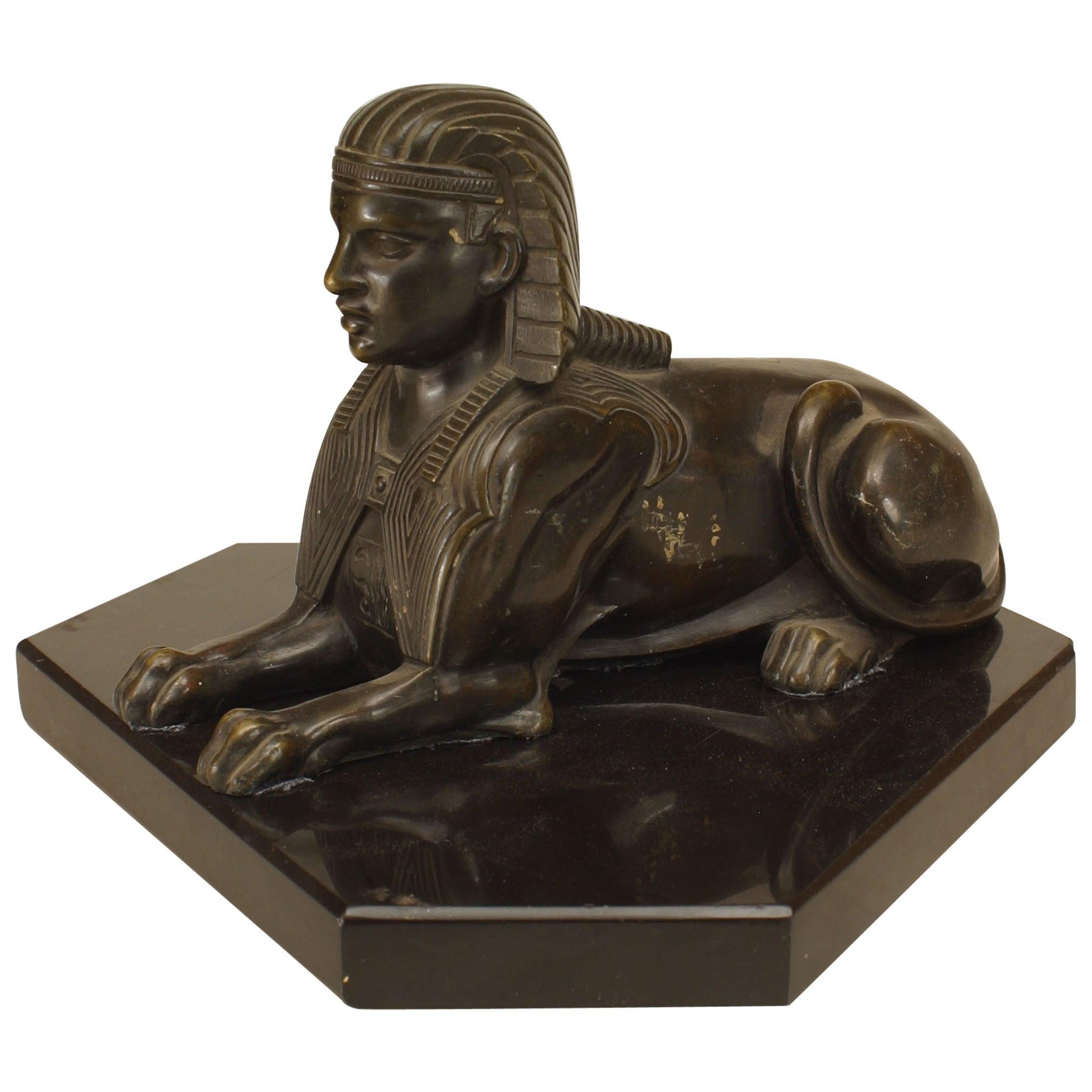 French Empire Bronze Sphinx