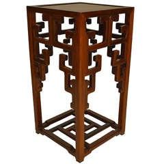 18th c. Qing Dynasty Pedestal Stand