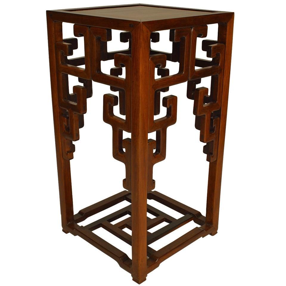 Chinese Hardwood Pedestal Stand