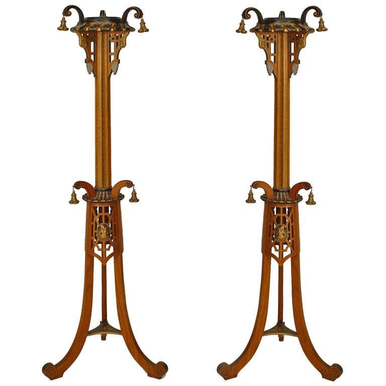 Pair of Regency Style Pedestals Attributed to S. Hille & Co.