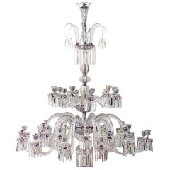 Spectacular 19th c. Crystal Chandelier by Osler