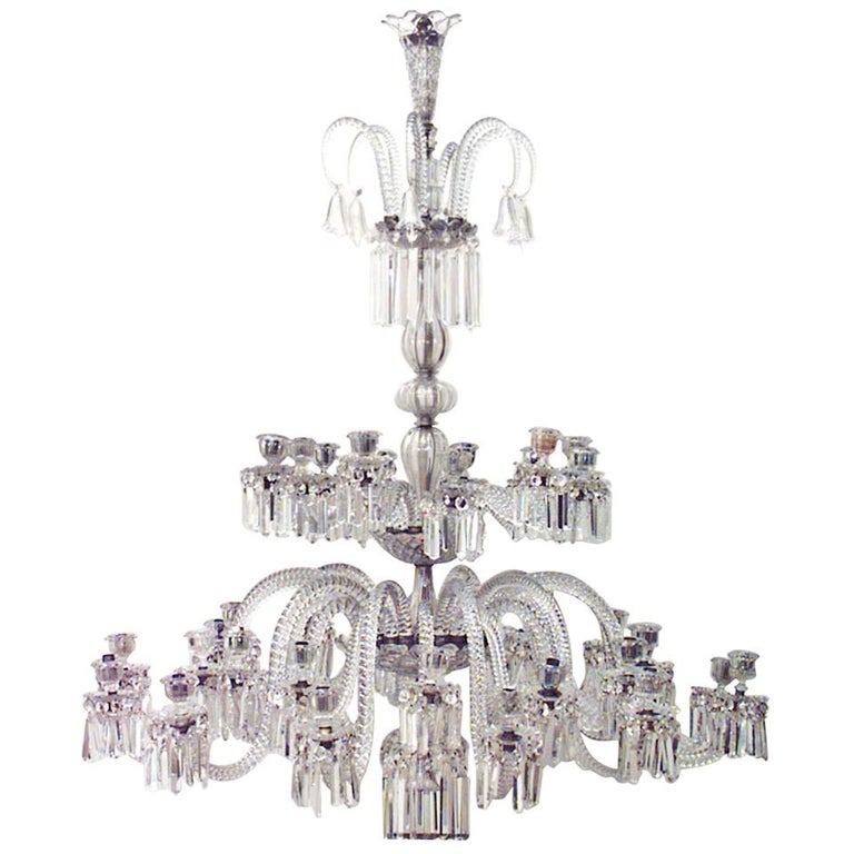 Spectacular 19th c. Crystal Chandelier by Osler For Sale