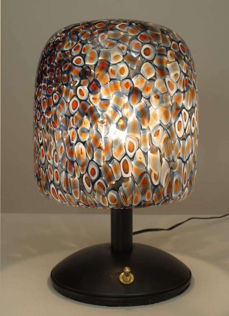 1970s Italian Millefleur Design Table Lamp by Gae Aulenti