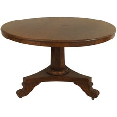 19th Century English Regency Style Circular Mahogany Center Table