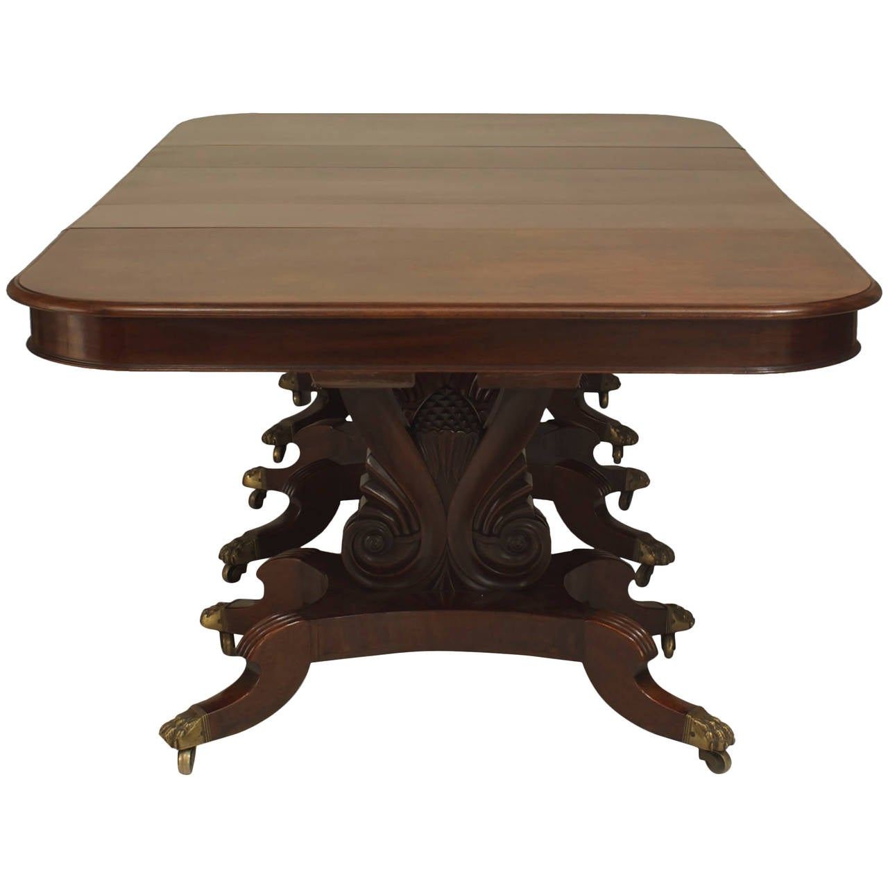 American empire extending mahogany dining table at 1stdibs for Dining room table 32 wide