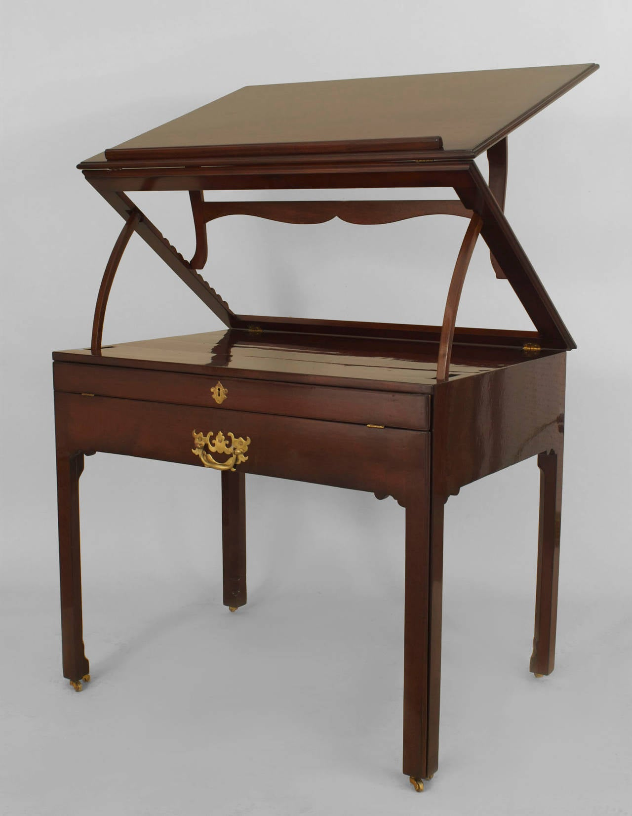 english georgian mahogany architect 39 s desk for sale at 1stdibs