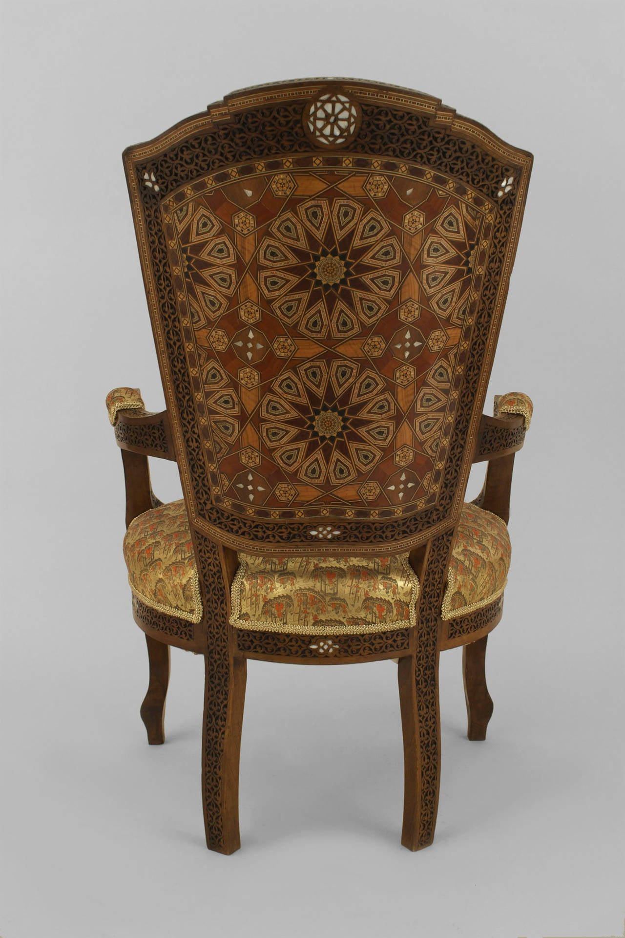 Set Of Six Middle Eastern Inlaid Dining Chairs For Sale At 1stdibs