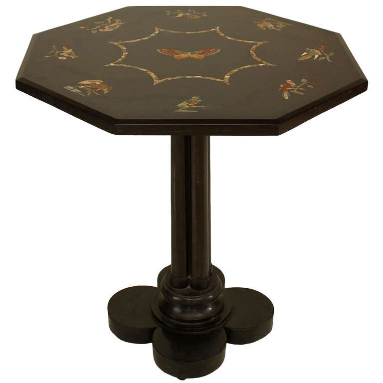 19th c french inlaid black marble end table for sale at - Archives departementales 33 tables decennales ...