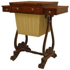 English Regency Rosewood Work Table