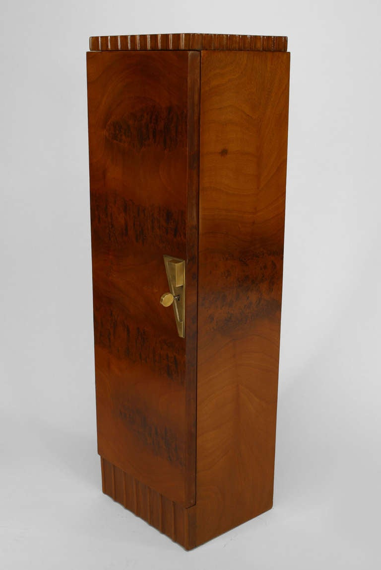Pair of French Art Deco Pedestal Cabinets Attributed to Roger Bal In Excellent Condition For Sale In New York, NY