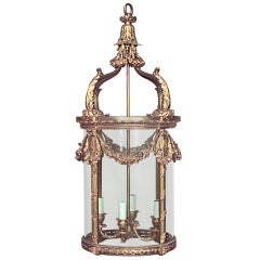 19th c. French Bronze Dore Lantern