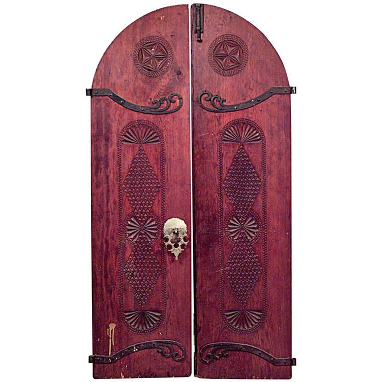 Pair Of 19th C Carved Middle Eastern Doors For Sale At 1stdibs