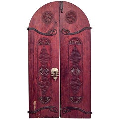 Pair of 19th c. Carved Middle Eastern Doors