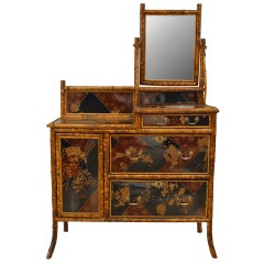 20th c. English Mirrored Chinoiserie Dresser