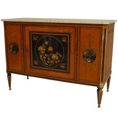 18th Century Dutch Inlaid Satinwood Commode