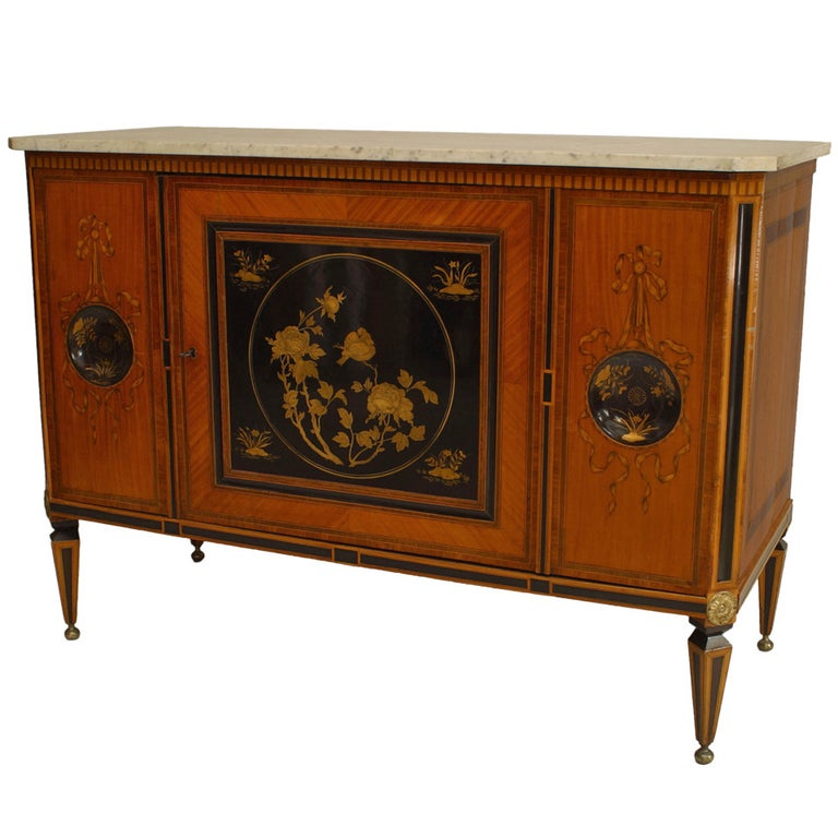 18th Century Dutch Inlaid Satinwood Commode For Sale