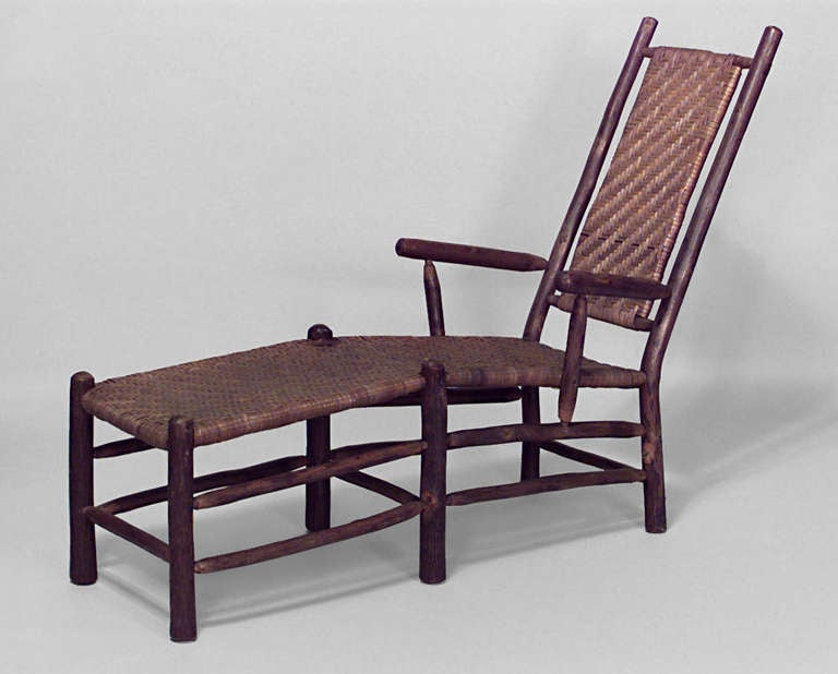 Old Hickory Woven Rattan Chaise For Sale At 1stdibs