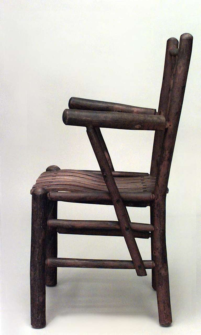 ... chair marked old hickory martinsville indiana. on old hickory