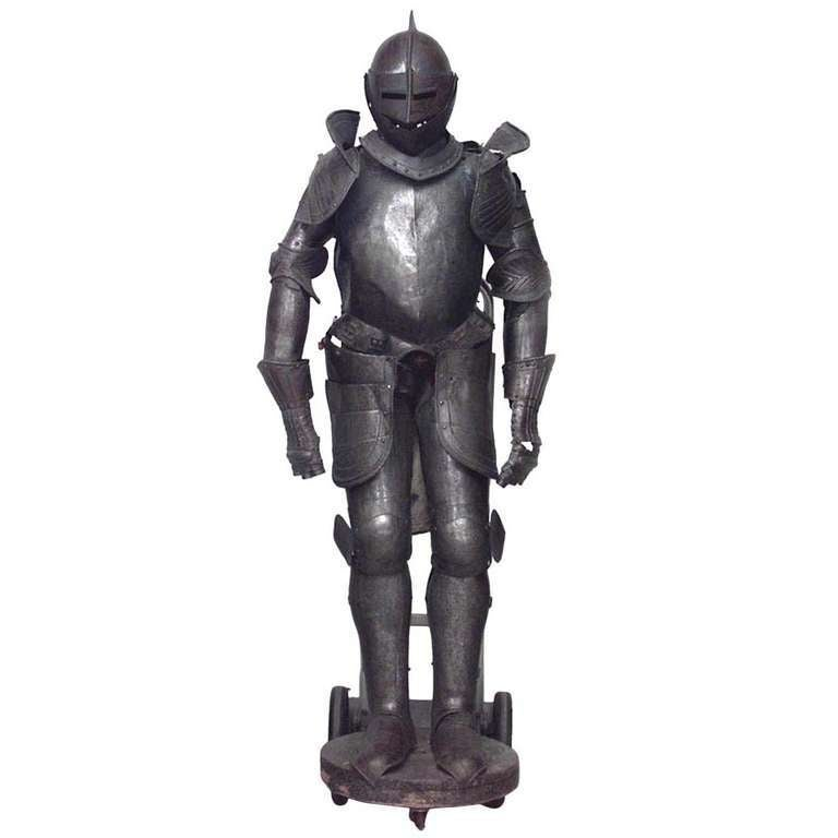 19th c. Medieval Style Suit Of Armor For Sale