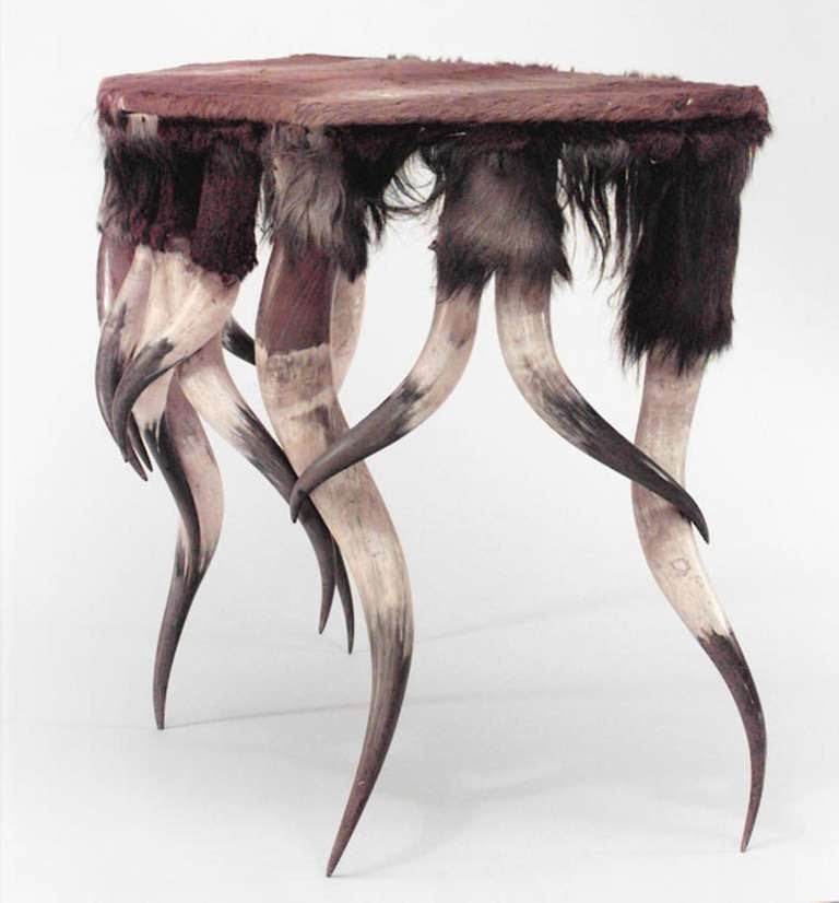 A unique horn design console table for sale at 1stdibs for Unique console tables for sale