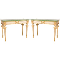 A Fine Pair of 18th c. Italian Console Tables
