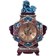 Jules Vieillard Chinoiserie Mantel Clock