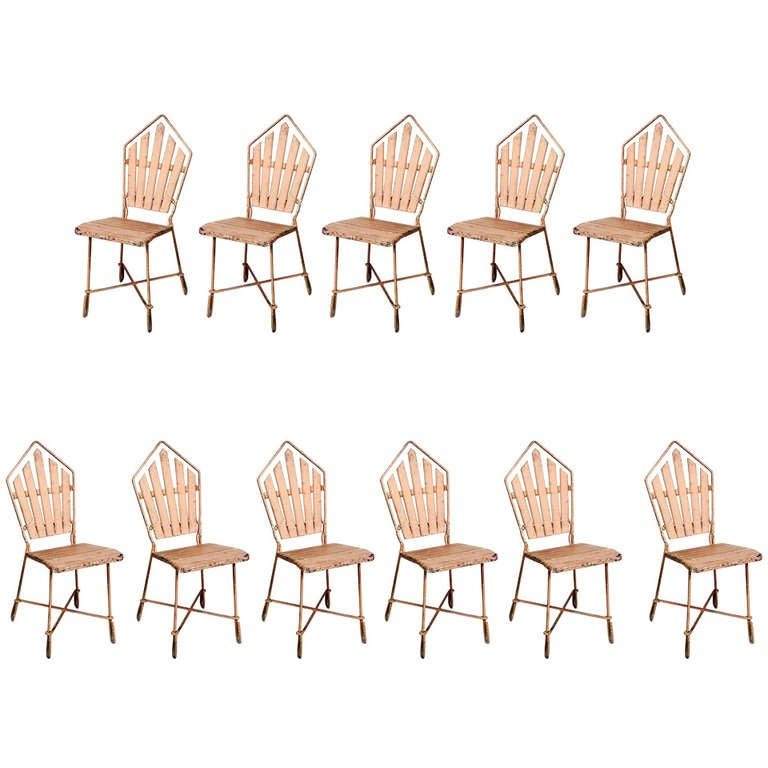 11 Outdoor Art Deco Side Chairs
