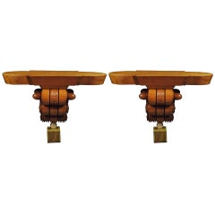 Pair of Unusual Art Deco Console Tables, circa 1930s