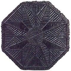 19th c. Rustic Octagonal Slat Twig End Table