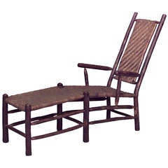 Old Hickory Woven Rattan Chaise