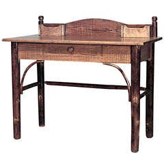 Rustic Old Hickory Writing Table