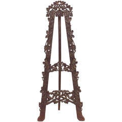 19th C. Black Forest Carved Easel Stand