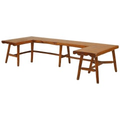 1940's Three-Sided Hickory Bench by Habitant Furniture Co.