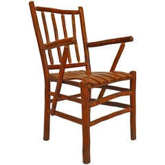 Set of 12 Rustic Old Hickory Spindle Design Chairs